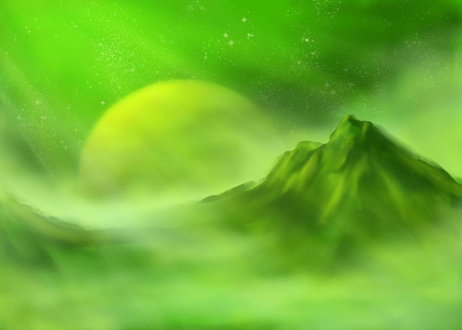 Green Planet by SkoshWiddershins