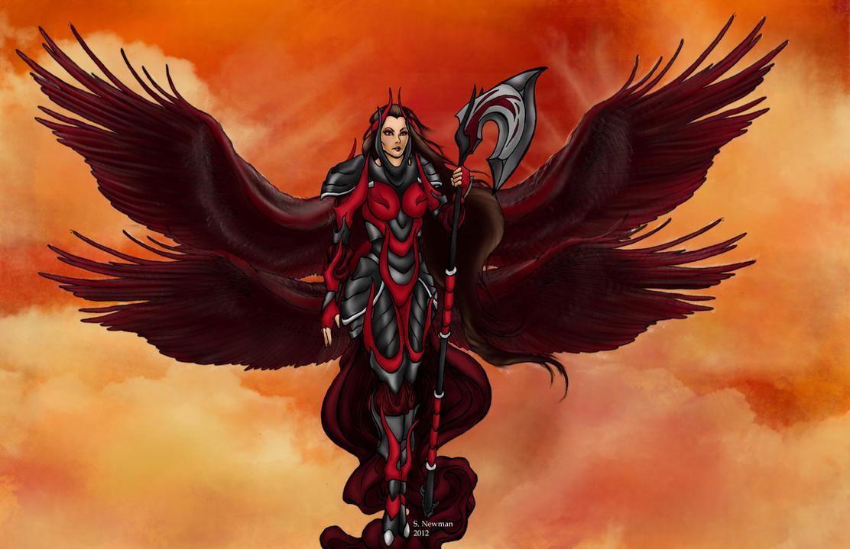 Angel of Death -color- by SkoshWiddershins