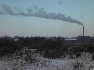 winter landscapes pollution