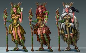 Druid woman