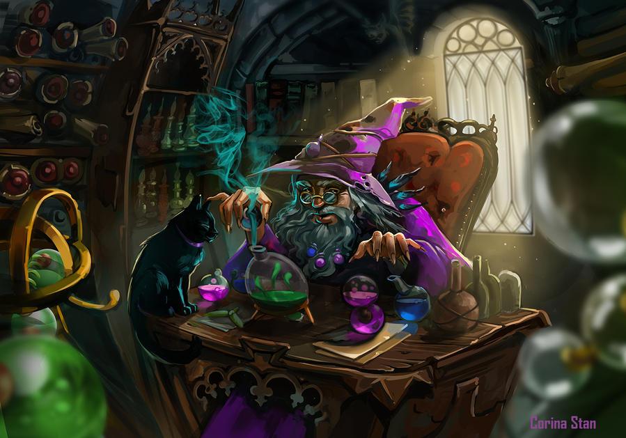 Alchemist room by Kortanna on DeviantArt