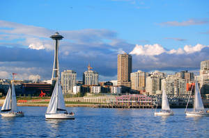 Seattle Sailboats by jesseboy000