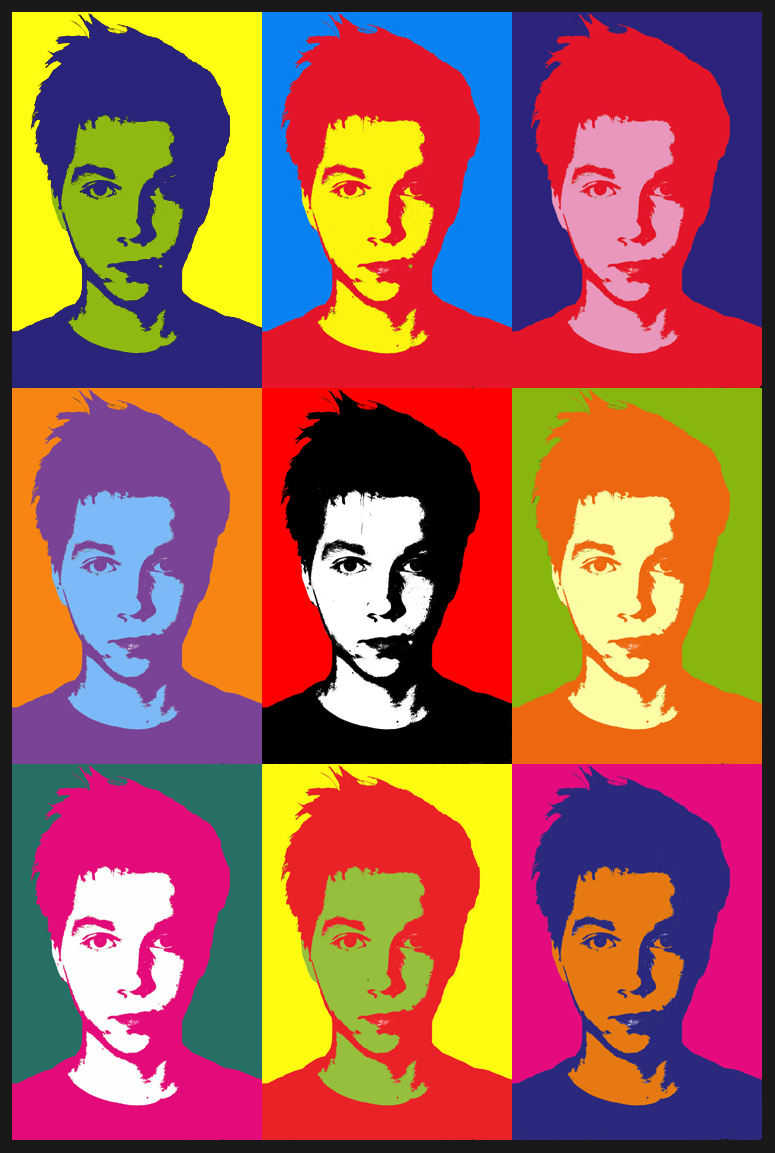 Myself, Andy Warhol Style by jesseboy000