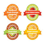 4-color-flat-juice-labels-vector