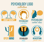 6 Creative Psychology Elements Logo Vector Materia