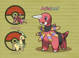 Poke Fusion - Arialeef by PokeFusionMan