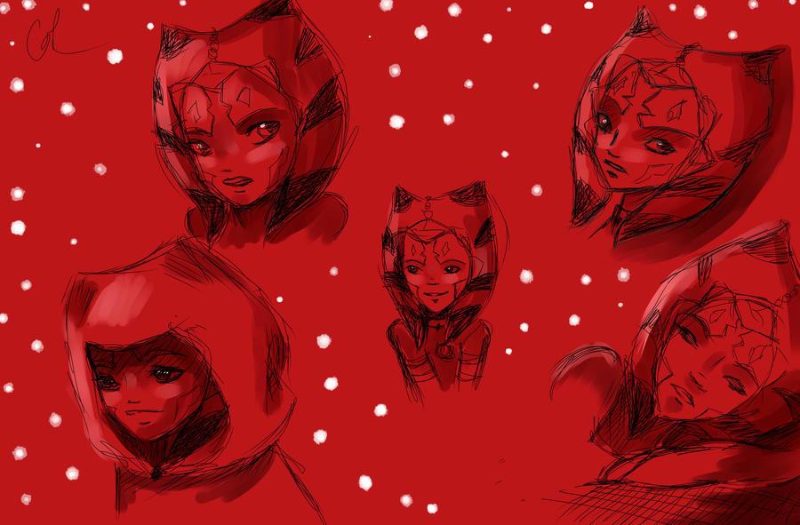 Ahsoka Tano.Sketches by Chyche