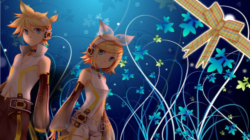 Kagamine Rin and Len by Chyche