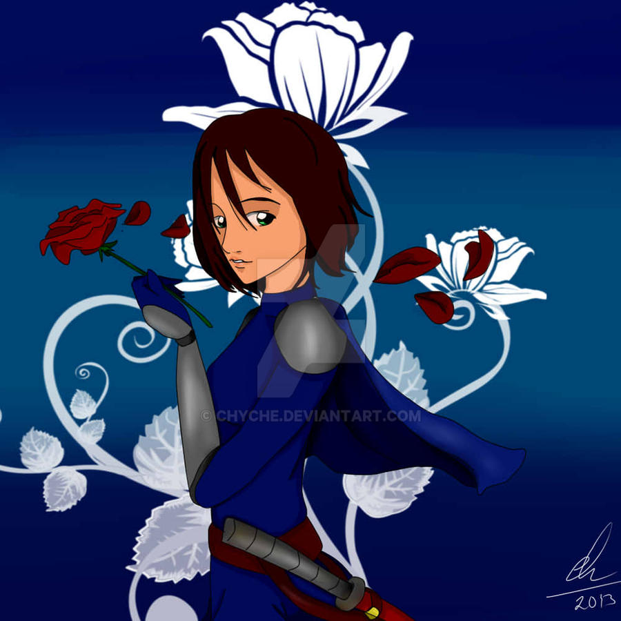 Andrea with rose. by Chyche
