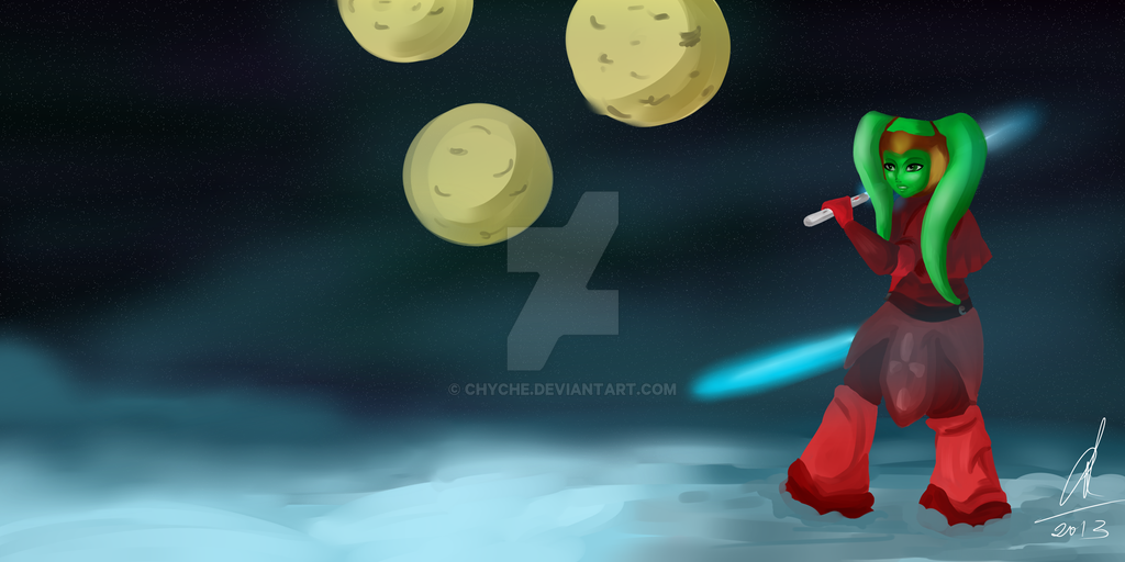 Tvi'lek Jedi by Chyche
