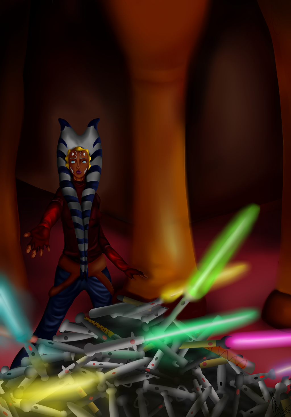 In the Jedi Temple. by Chyche