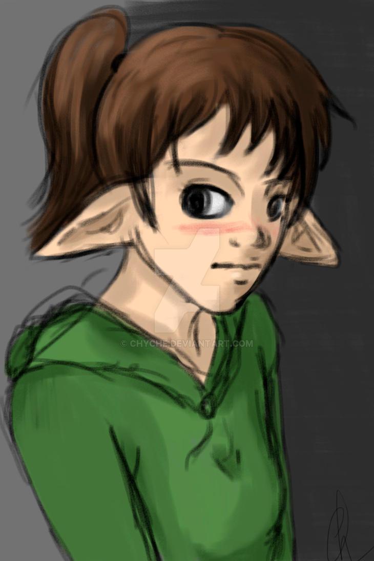 Michi Elf Sketch by Chyche