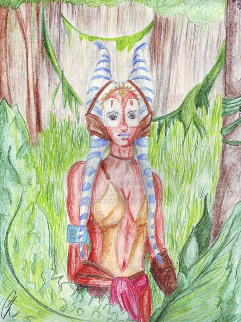 Shaak Ti on Felucia by Chyche