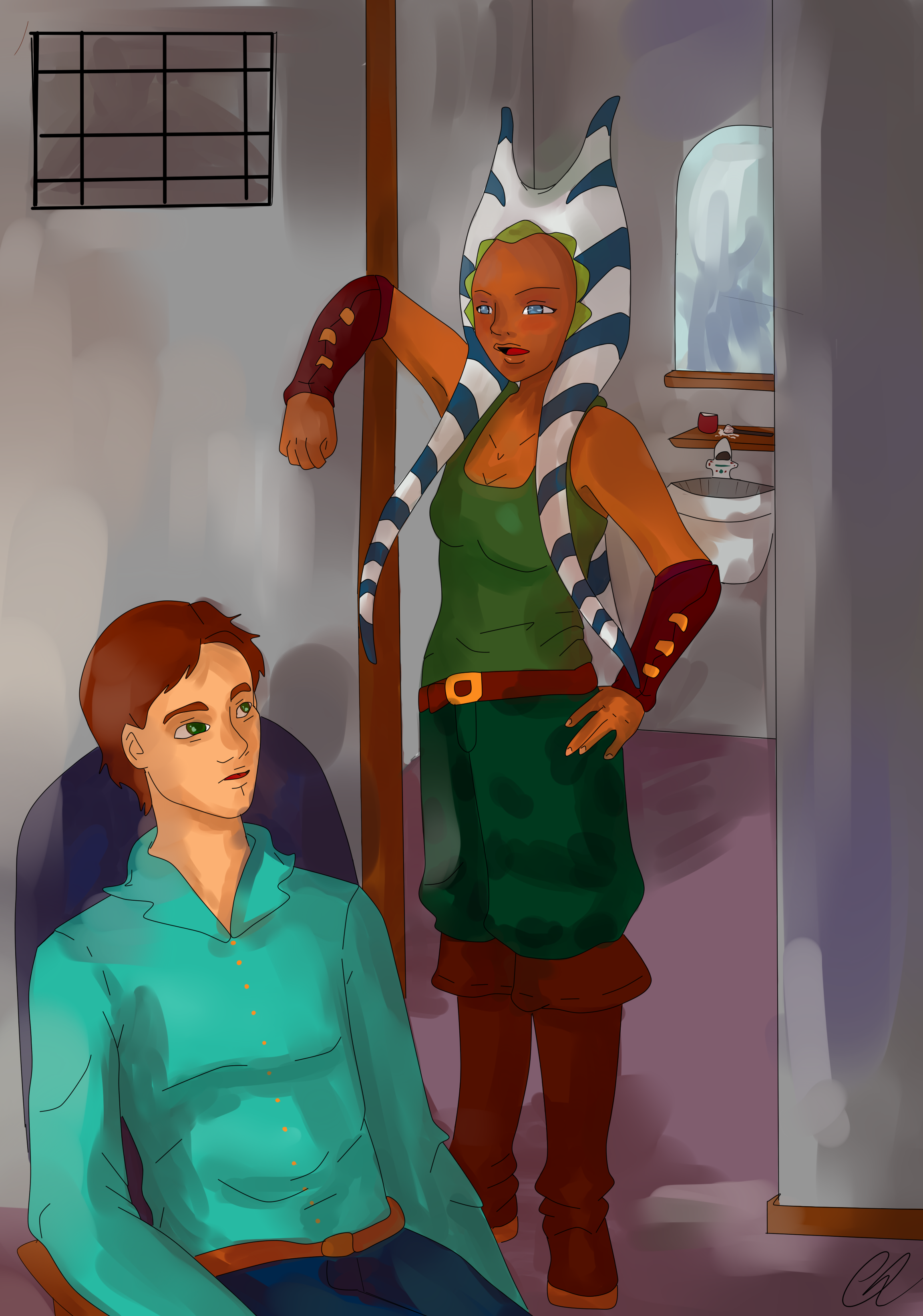 Midst of the Night. Alex and Ahsoka Tano. by Chyche