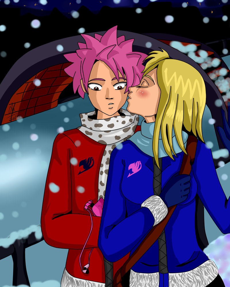 Fairy Tail: Natsu and Lucy by Chyche