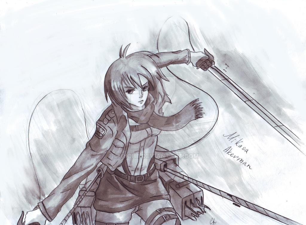 Mikasa Akerman by Chyche