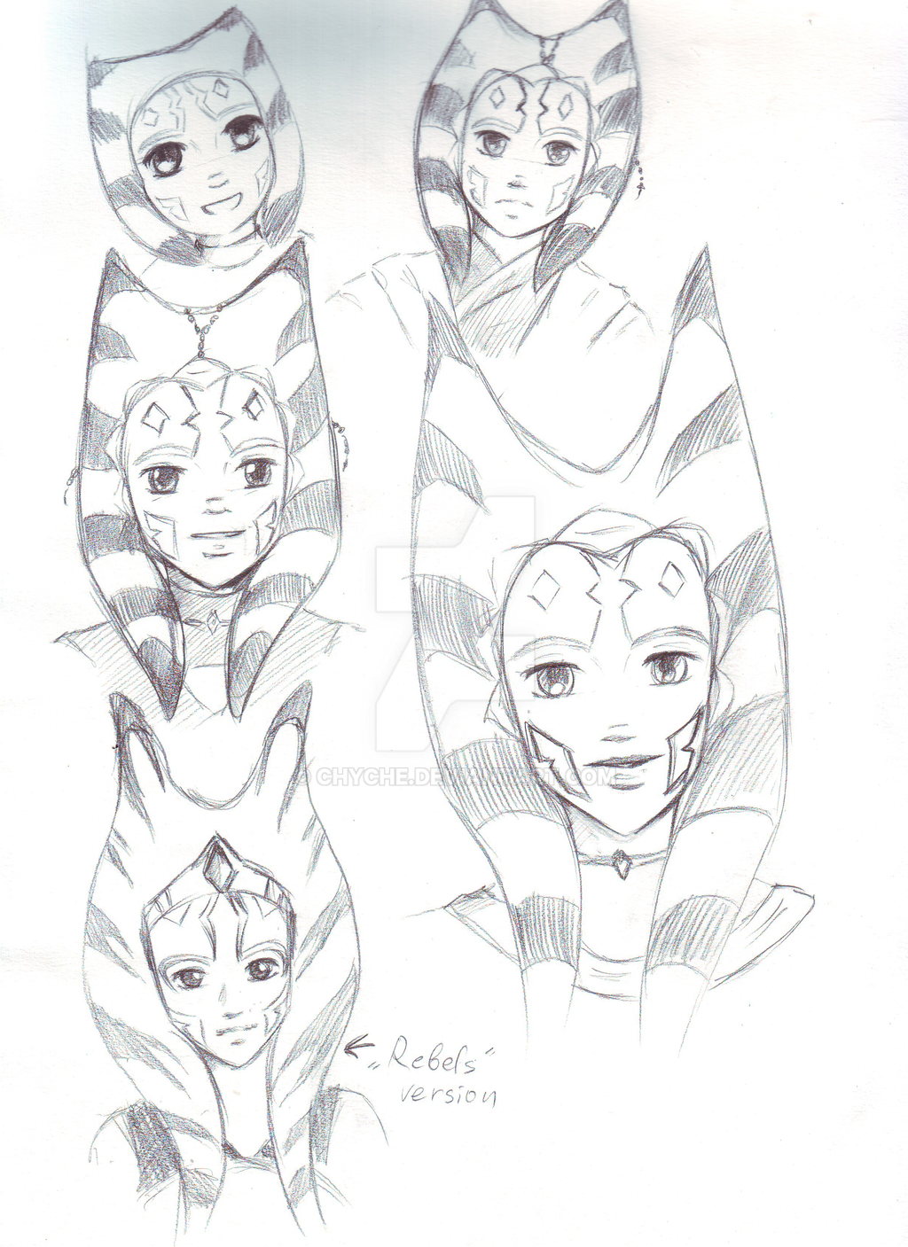 Ahsoka Sketches by Chyche