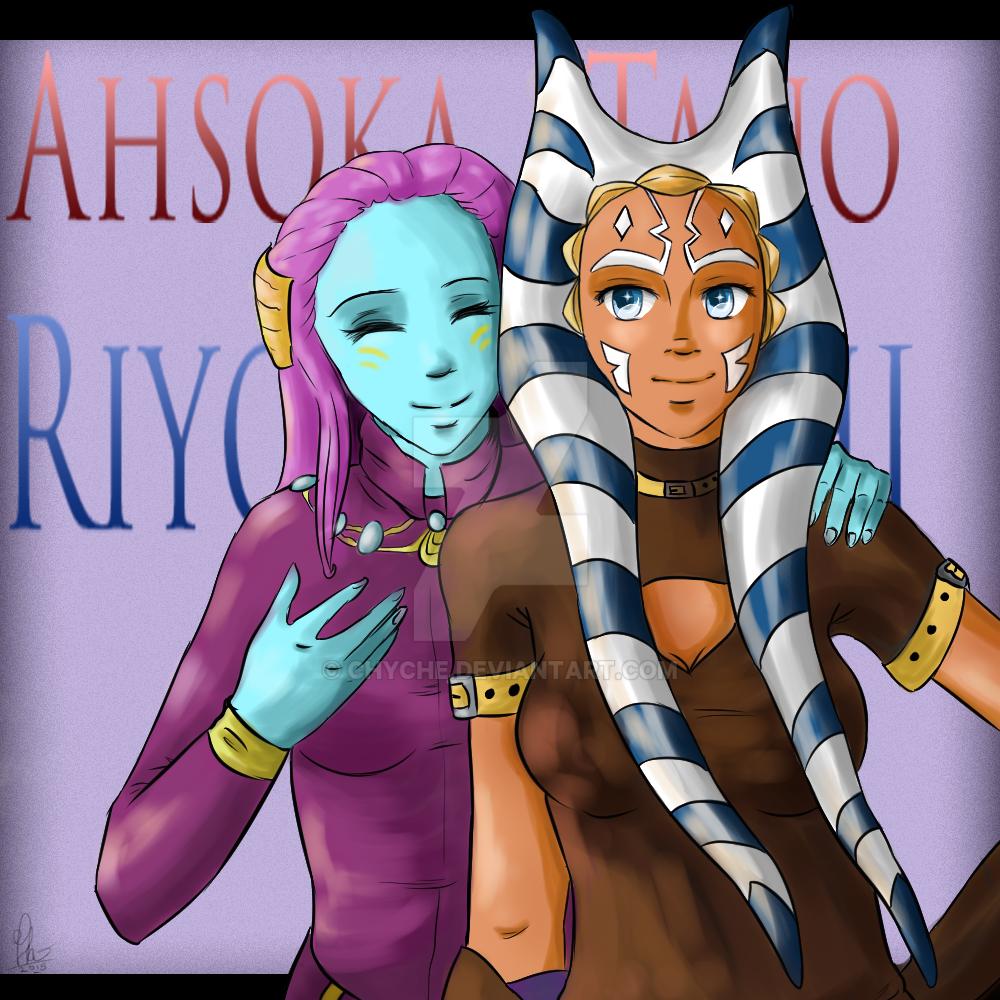 Ahsoka Tano and Riyo Chuchi by Chyche