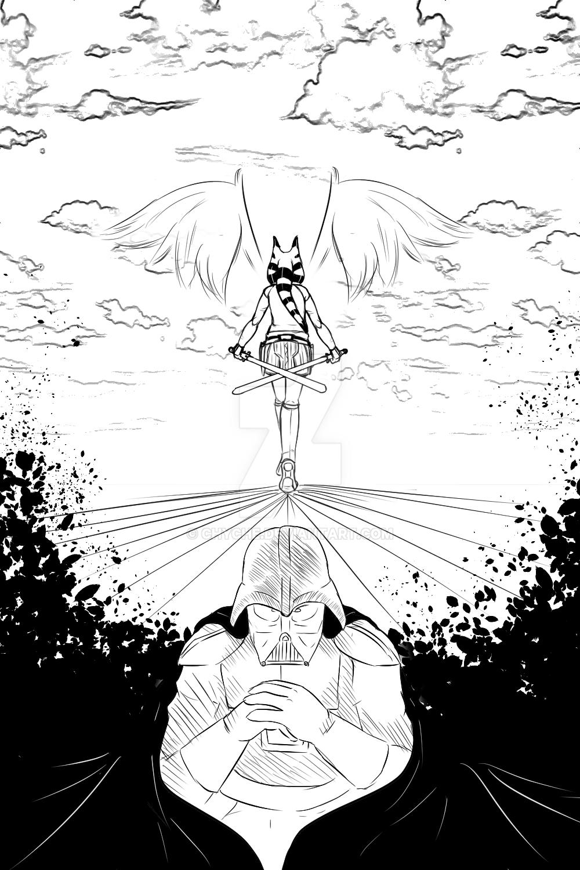 Darth Vader and Ahsoka Tano: Twilight by Chyche