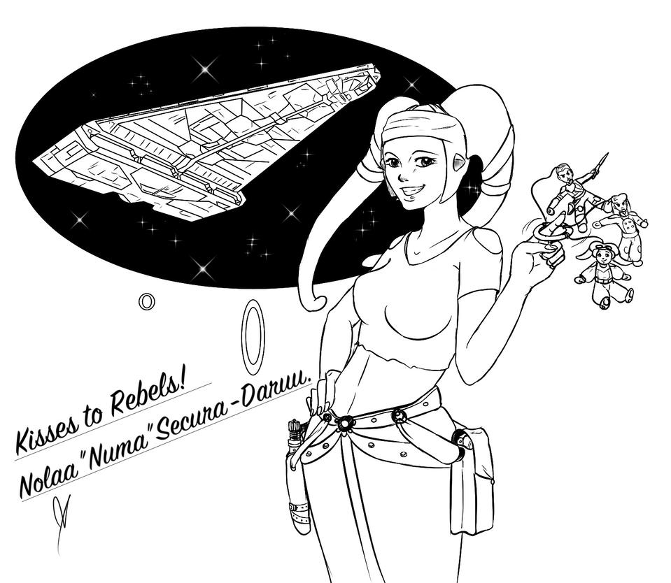 Nola 'Numa' Secura-Daru's postcard to Rebels by Chyche