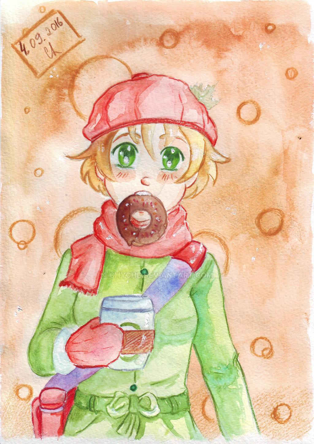 Girl with donut. by Chyche