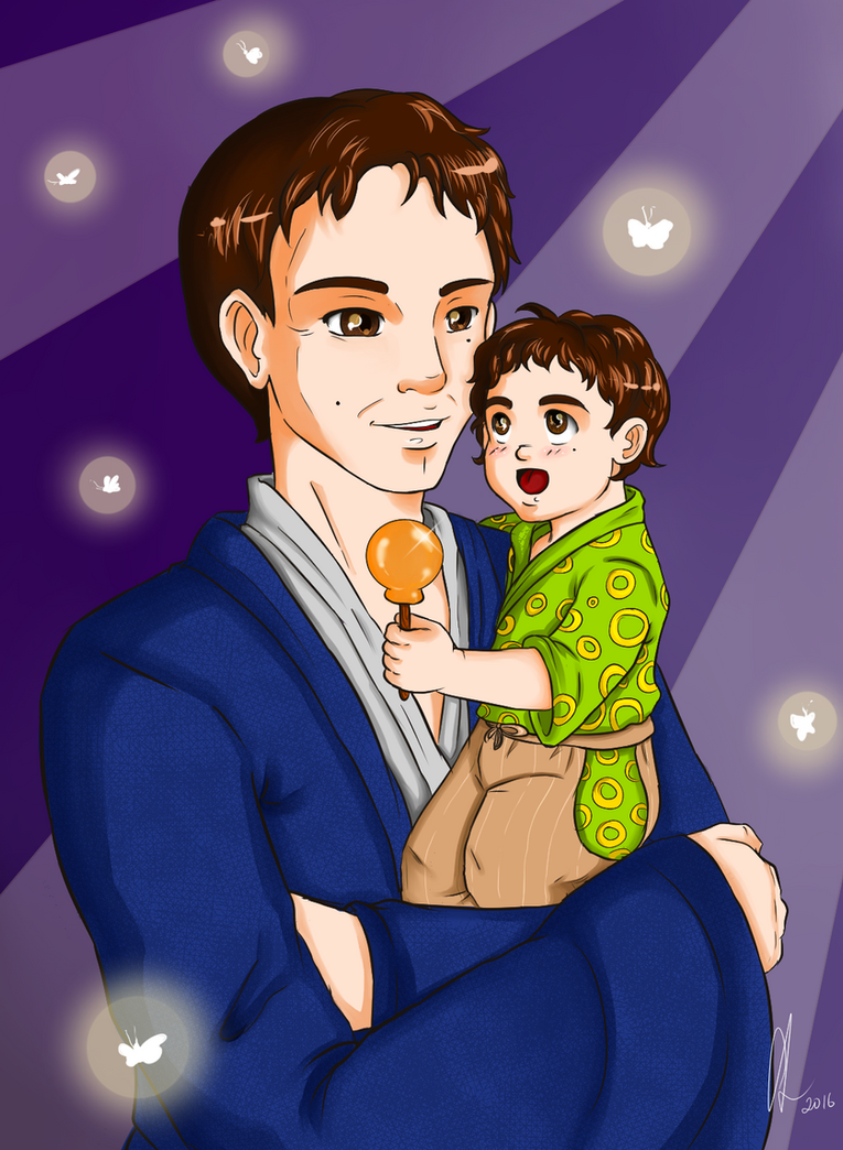 Alex with his son Wan. by Chyche