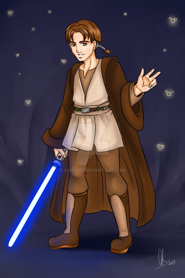 Jim Hawkins as Jedi by Chyche