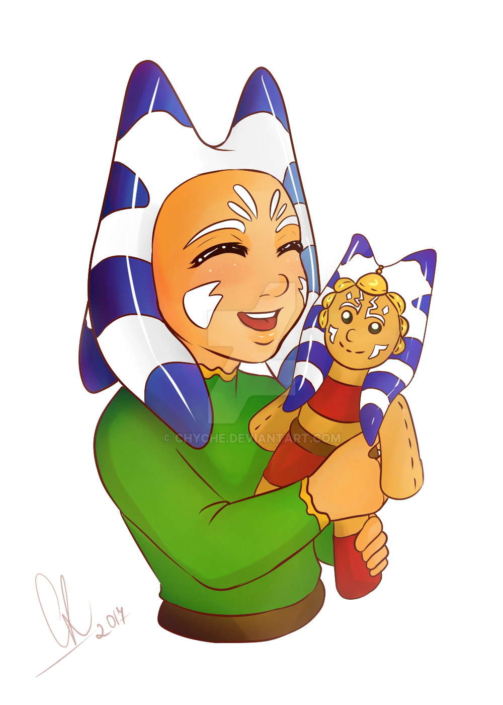 Erdeni Tano with Toy Ahsoka by Chyche
