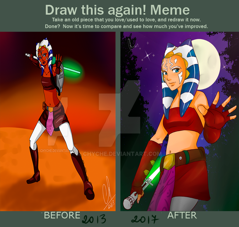 Draw It Again - Ahsoka by Chyche