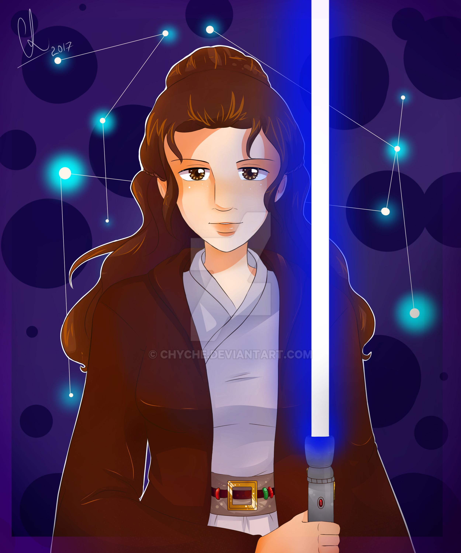 Jedi Leia by Chyche