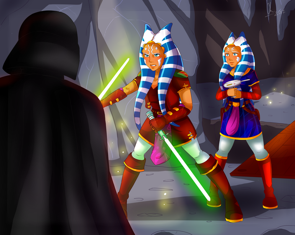 Ahsoka vs Darth Vader by Chyche