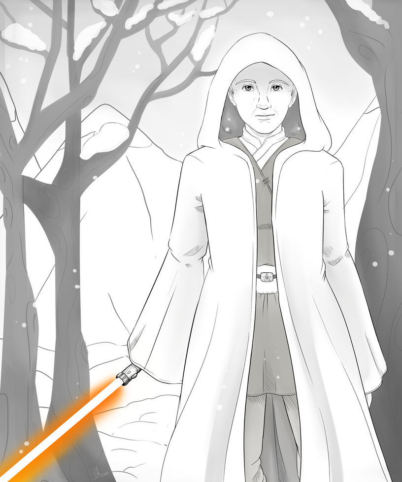 Commission - Jedi by Chyche