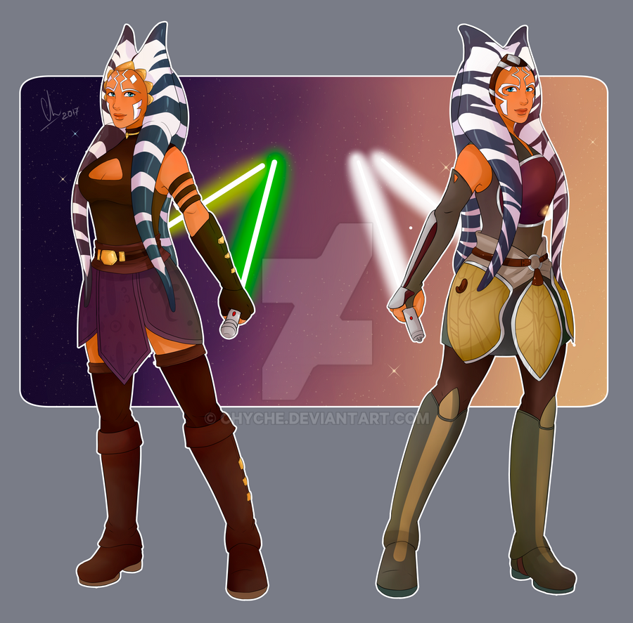 Ahsoka Tano TCW and Rebels version by Chyche
