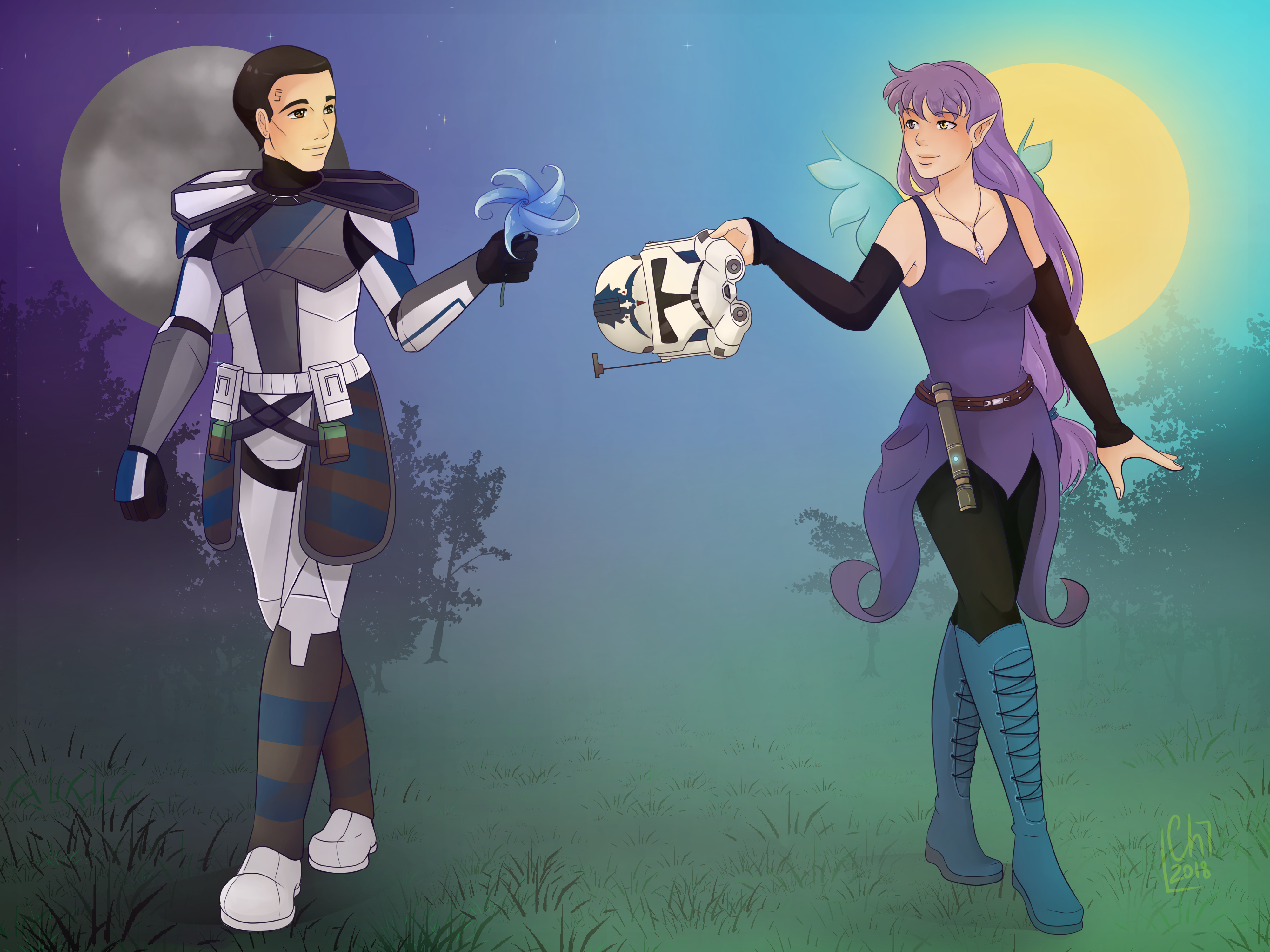 [Commission] - Fives and Bloom by Chyche
