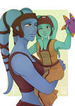 [SW Postcard] - Numa and Aayla Secura