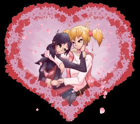 Higashi Setsuna X Momozono Love by theMuesLee