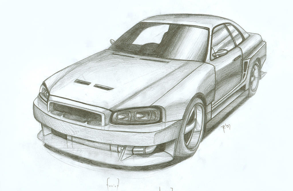 Nissan Skyline Sketch Nissan Skyline R34 by Fuseest