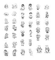 Cute characters by dothaithanh