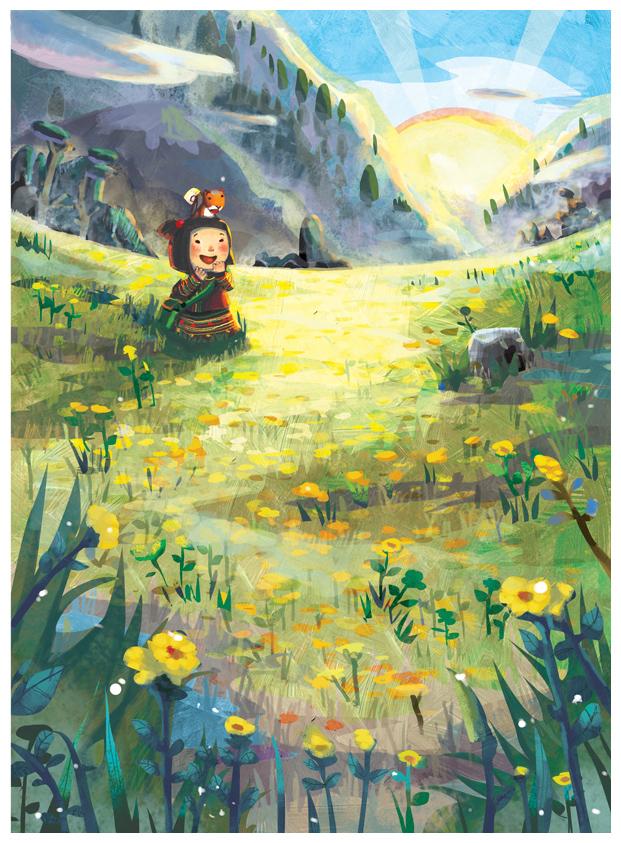 Sunrise On The Flower Field By Dothaithanh