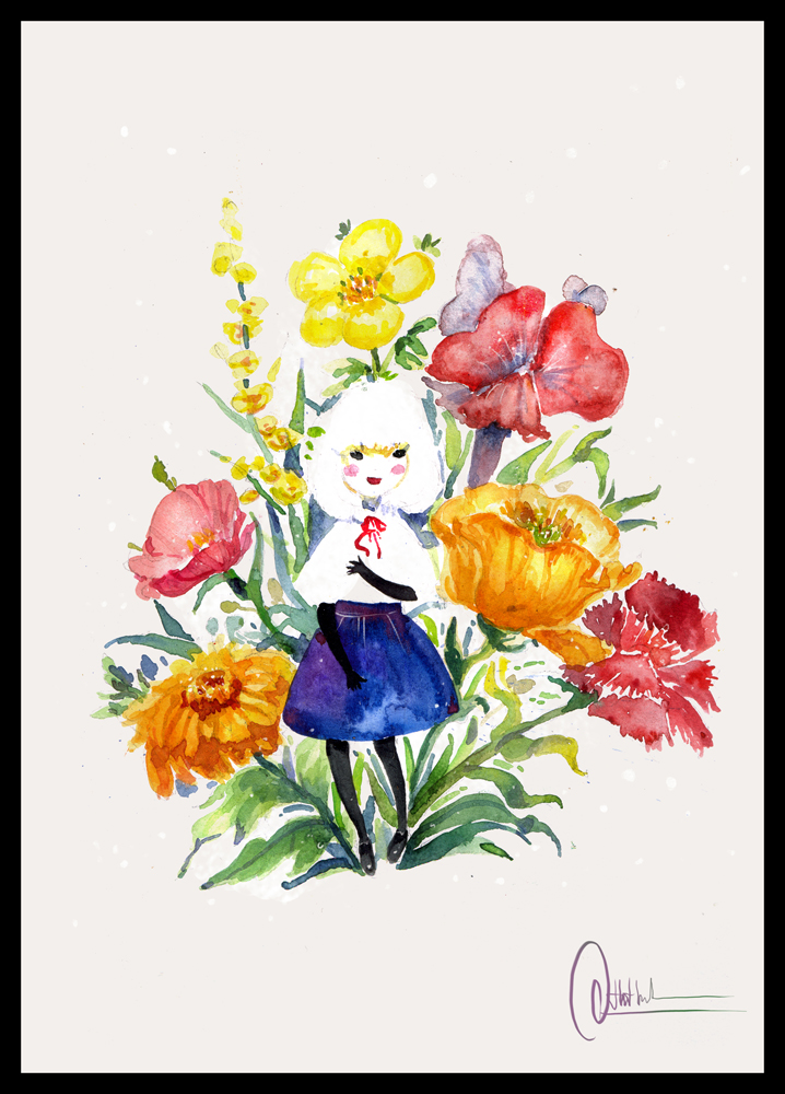 Flora girl by dothaithanh