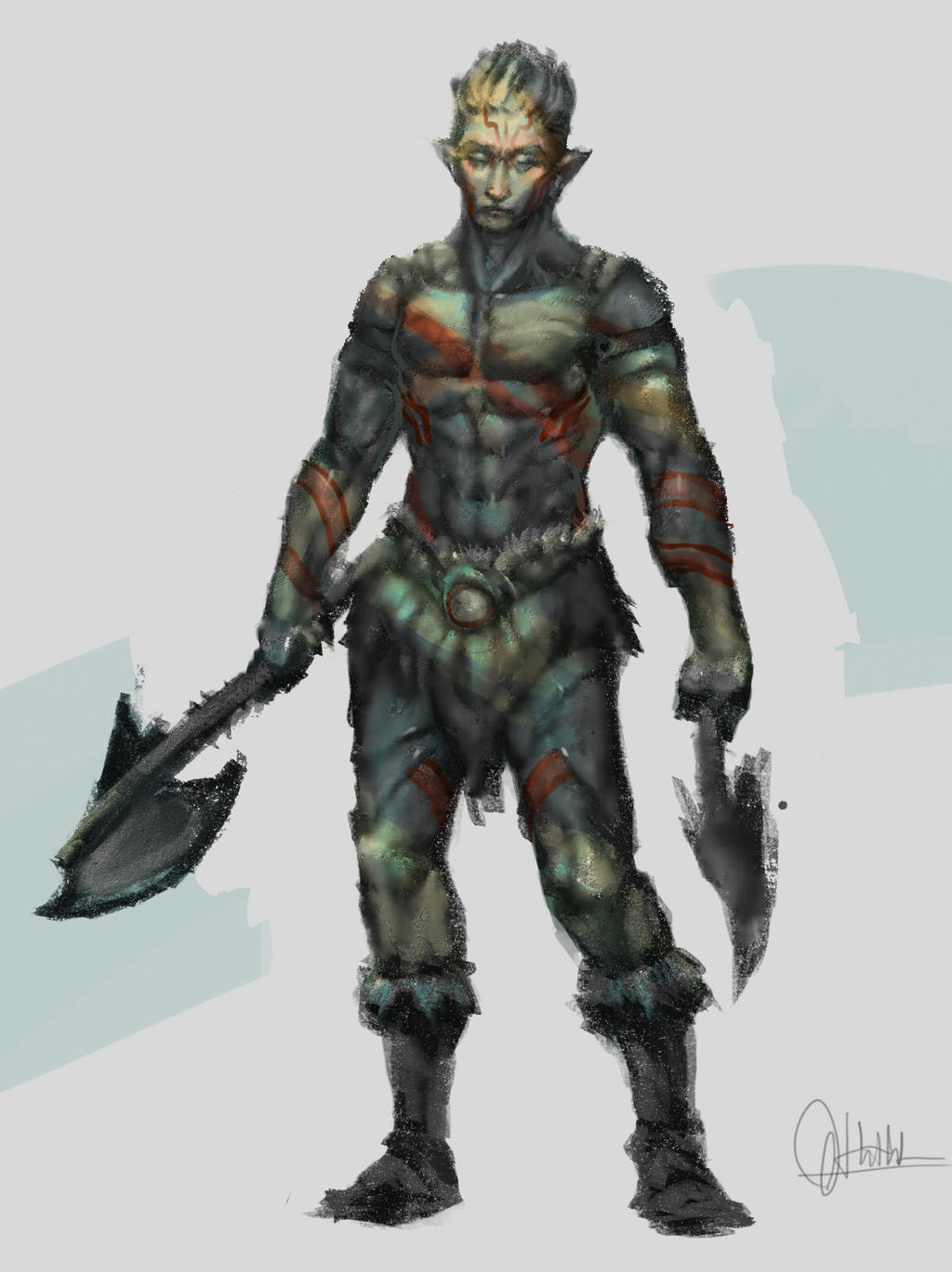 male warior by dothaithanh