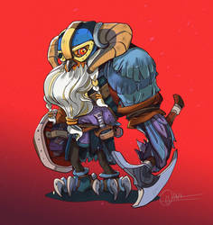 Character smashup OwlViking by dothaithanh