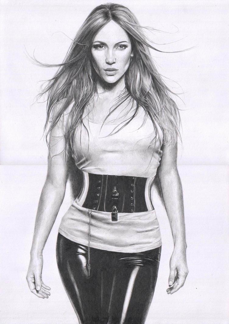 Дженнифер лопес рисунок