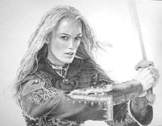 Keira Knightley with Sword by Delichon