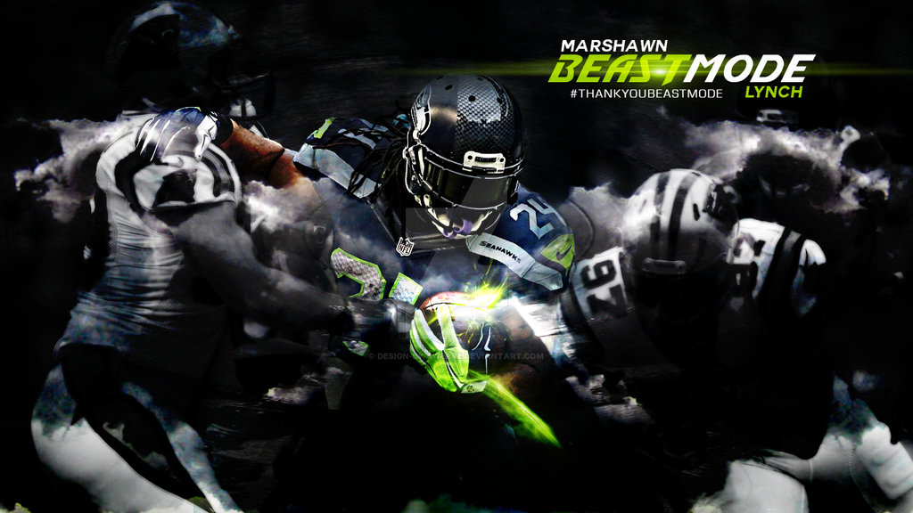 Marshawn Lynch AkaBeastMode Tribute Wallpaper By Design Swerve