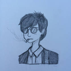 Johnny is SMOKIN' by Negative-Cation