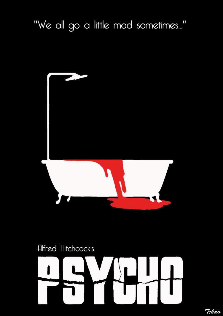 psycho minimalist poster by tchav on deviantart. Black Bedroom Furniture Sets. Home Design Ideas