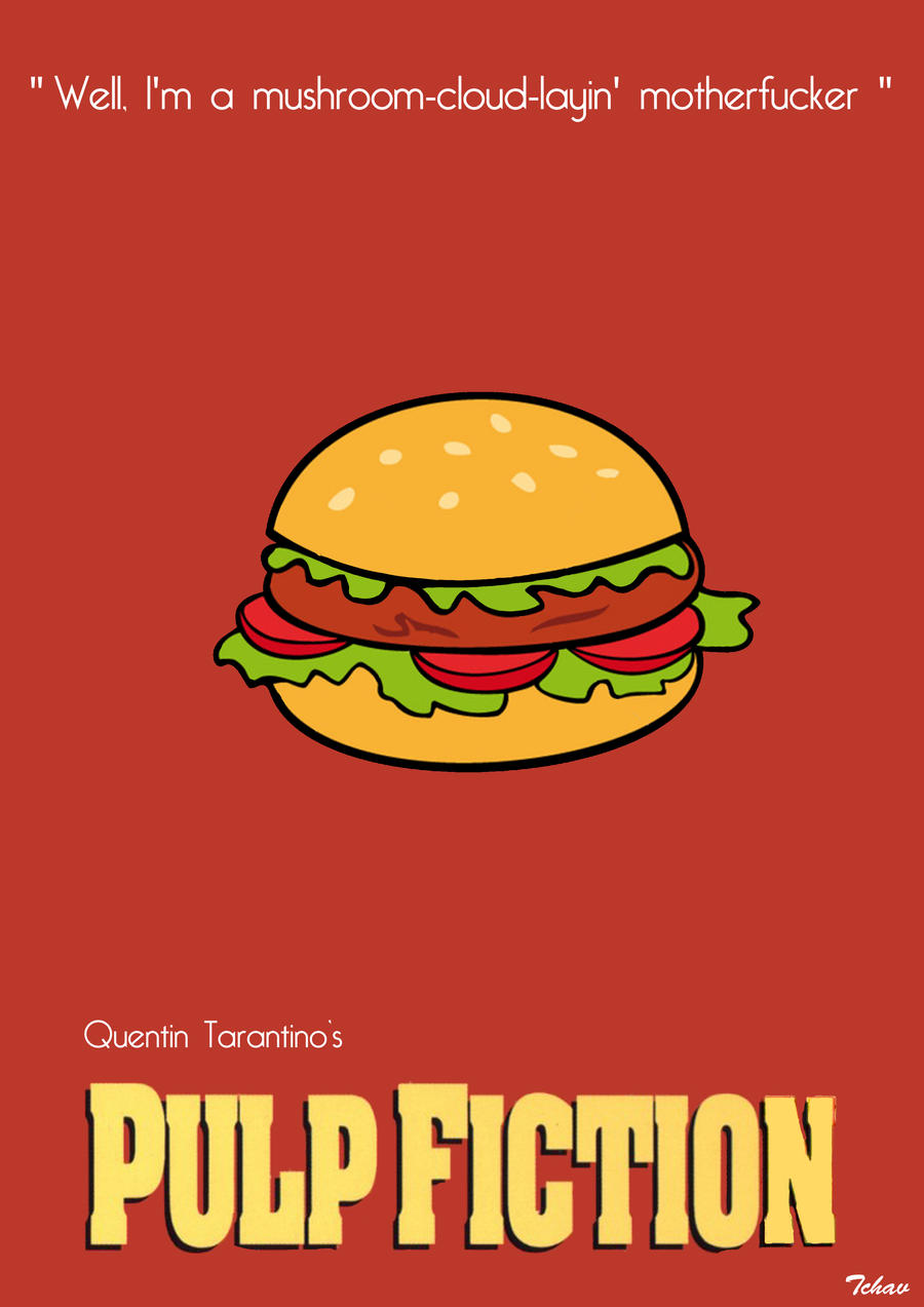 Pulp fiction minimalist poster by tchav