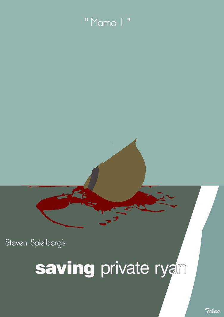 Saving Private Ryan Minimalist Poster by Tchav on DeviantArt