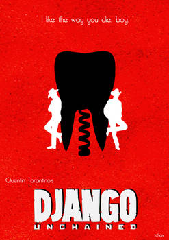 Django Unchained Minimalist Poster